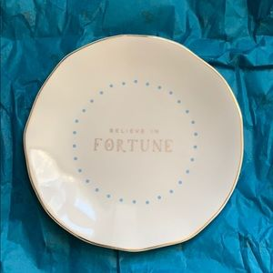 BELIEVE IN FORTUNE Small Dish Plate NEW